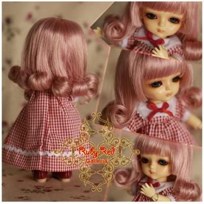Perruque Ruby Red pour poupée 8 inch