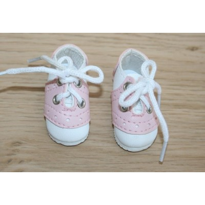 Chaussures baskets blanches et roses