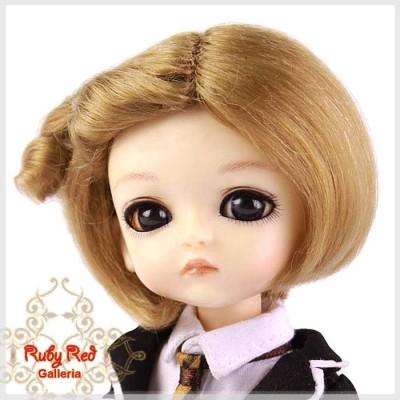Perruque Mohair Blond pour poupée 8 inch