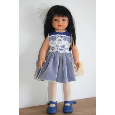 Poupée Kaori Robe bleue indigo