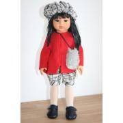 Poupée Kaori veste rouge et Béret