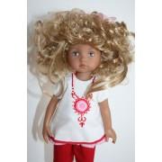 Perruque Darak Blonde pour Boneka