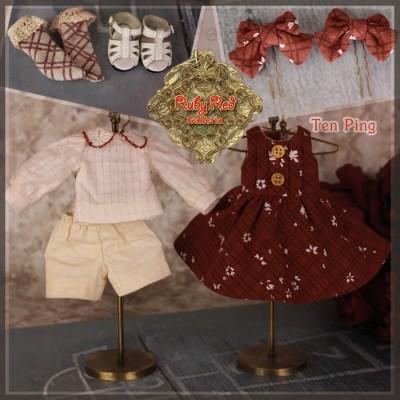 Ensemble Robe rouge et chaussures InMotion Girls