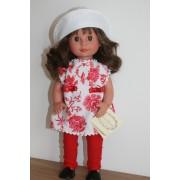 Marietta tunique à fleurs rouges