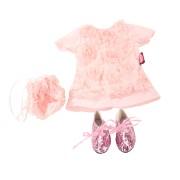 Set Robe dentelle et chaussures pour Poupée 45-50 Cm