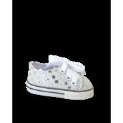 Sneakers grises avec brillants
