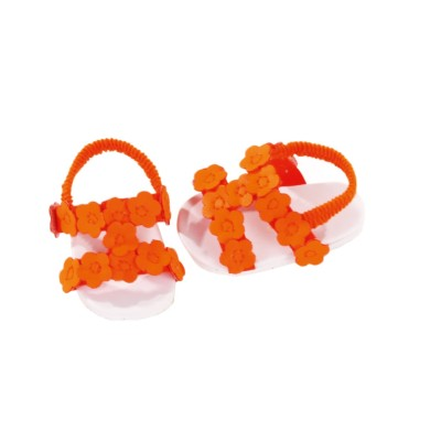 Sandales estivales orange neon pour poupée Gotz 50 Cm