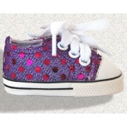 Sneakers violettes avec brillants