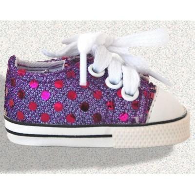 Sneakers violettes avec brillants
