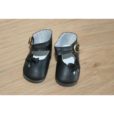 Chaussures noires Noeud côté