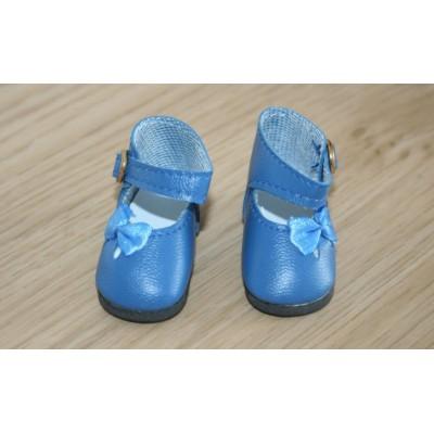 Chaussures bleues Noeud côté