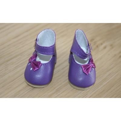 Chaussures violettes Noeud côté