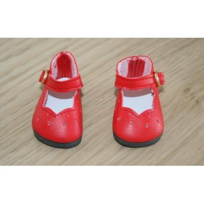 Chaussures découpées rouges pour Little Darling