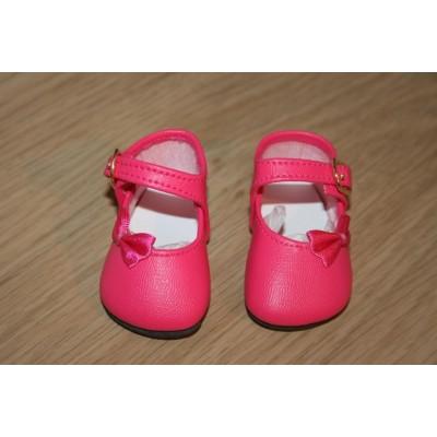 Chaussures fuchsia Noeud côté