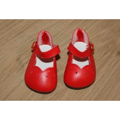 Chaussures découpées rouges
