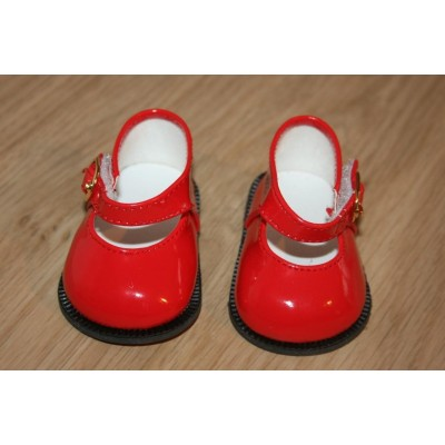 Chaussures Mary Jane rouges vernies
