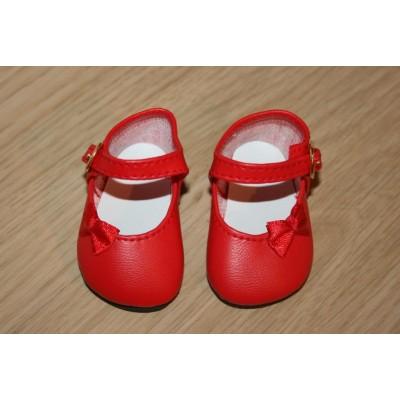 Chaussures rouges Noeud côté