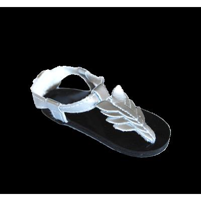 Sandales estivales argentées