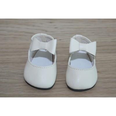 Chaussures crème lanière noeud