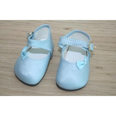 Chaussures bleu tendre Noeud côté