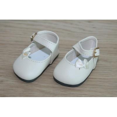 Chaussures Crème Noeud côté