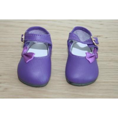 Chaussures Mauve foncé Noeud côté