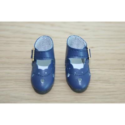 Chaussures découpées à petits coeurs Bleu indigo
