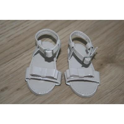 Sandalettes Ivoire à noeud