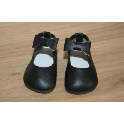 Chaussures noires lanière noeud