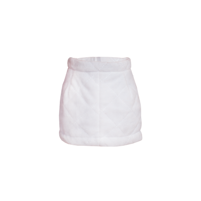 Jupe blanche velours