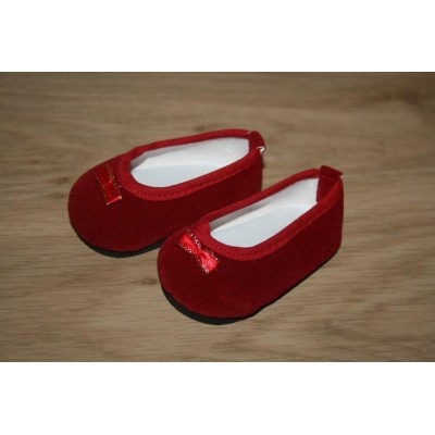 Ballerines pantoufles rouges en velours
