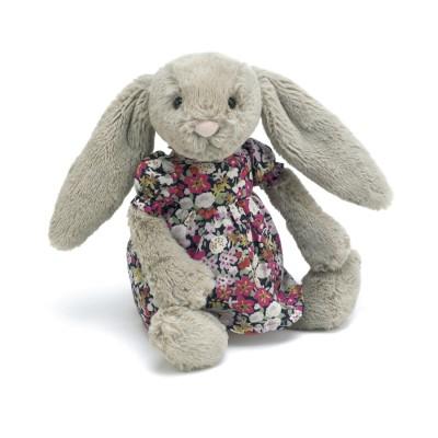 Betsy le lapin et sa robe fleurie - 23 Cm