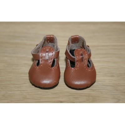 Chaussures Brunes T-Strap pour Boneka