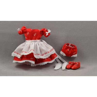 Robe Rouge Christmas Poupée Heartstring