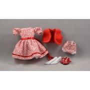 Robe Bouquets de fleurs rouges Poupée Heartstring