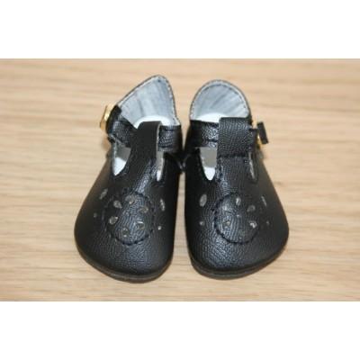 Chaussures noires tendance à lanières