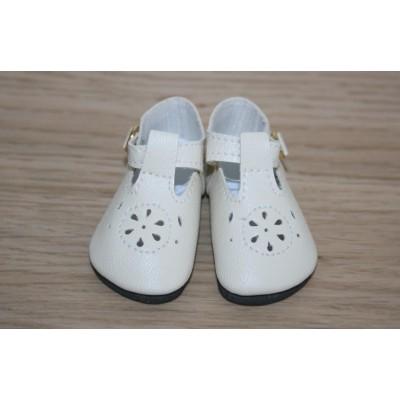 Chaussures crème tendance à lanières