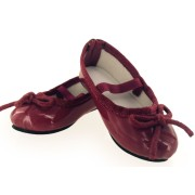 Ballerines vernies bordeaux