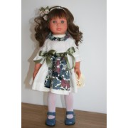 Nelly Brune robe tablier fleuri