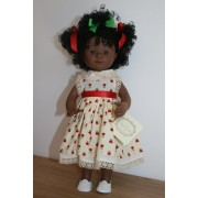 Marietta Africaine Robe fleurs rouges