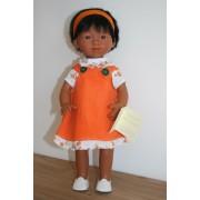 Marietta cheveux courts Robe Orange