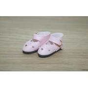 Chaussures découpées à petits coeurs Rose