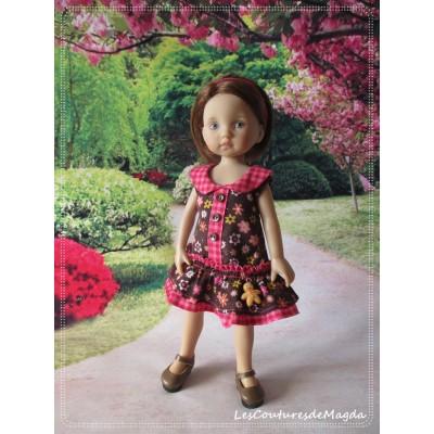 Tenue Chocolat Framboise pour poupée Boneka