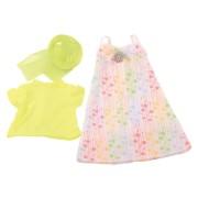 Set Robe d'été fleurie avec Chapeau pour Poupée 45-50 Cm