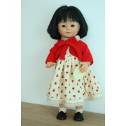 Marietta Asiatique Robe tulipes rouges