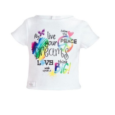 Tee-Shirt blanc Live your Dreams pour Poupée WeGirls