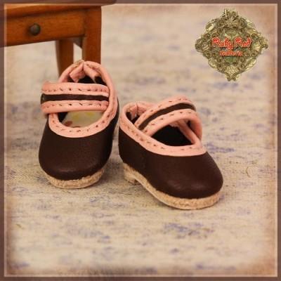Chaussures Maryjane Marron et roses pour InMotion Girl