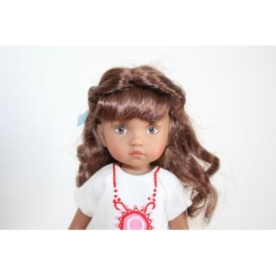 Perruque Lexy Brun Châtain pour Boneka