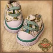 Baskets en toile à fleurs vertes pour InMotion Girl
