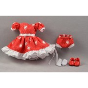 Set Robe rouge à petits chats Poupée Heartstring